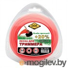 Леска для триммера DDE Hard Line 2.0mm x 63m Grey-Red 645-051