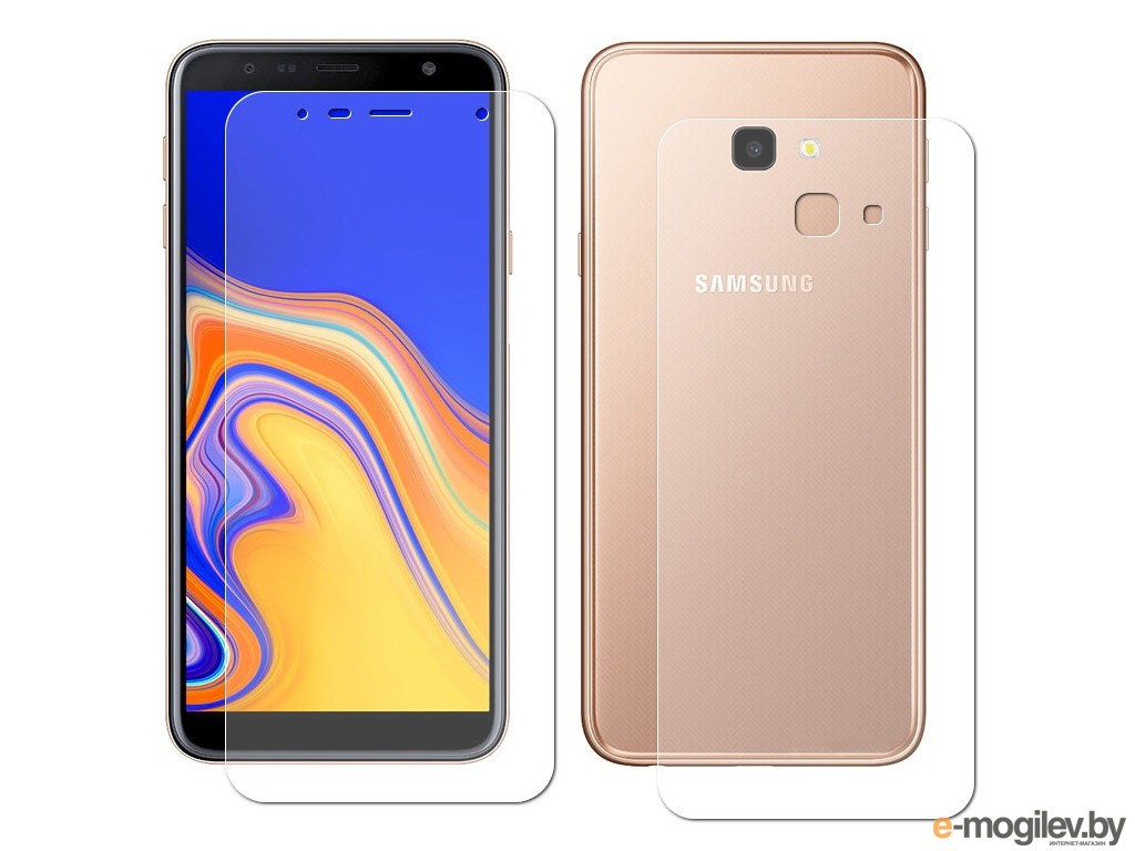 для Samsung Защитная пленка для Samsung Galaxy J4 Plus LuxCase Full Screen Front&Back Transparent 88189