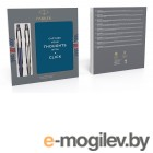 Набор Parker Jotter Core K61/К63 (2062782) Stainless Steel CT/Waterloo Blue CT ручка шариковая 2шт. в компл.:блокнот подар.кор.