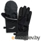 Перчатки для бега Saucony 2020-21 Fortify Convertible Gloves / SAU900005 (M, Black)