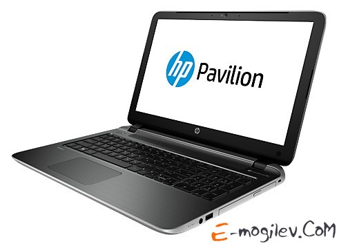 Ноутбук HP Pavilion 15-p002sr A8 6410/4Gb/500Gb/DVD/UMA/15.6/HD/Glare/1024x576/Win 8.1/silver/BT2.1/6c/WiFi/Cam