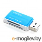 External 5bites RE2-102BL, USB2.0  Blue