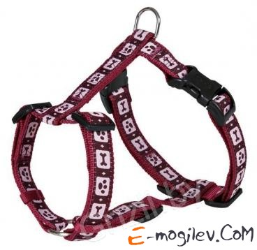 Trixie 17139 Modern Art H-Harness (S-M, Bordeaux)