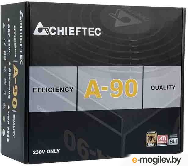 Chieftec A-90 GDP-550C (ATX 2.3, 550W, 90 PLUS GOLD, Active PFC, 140mm fan, Cable Management) Retail