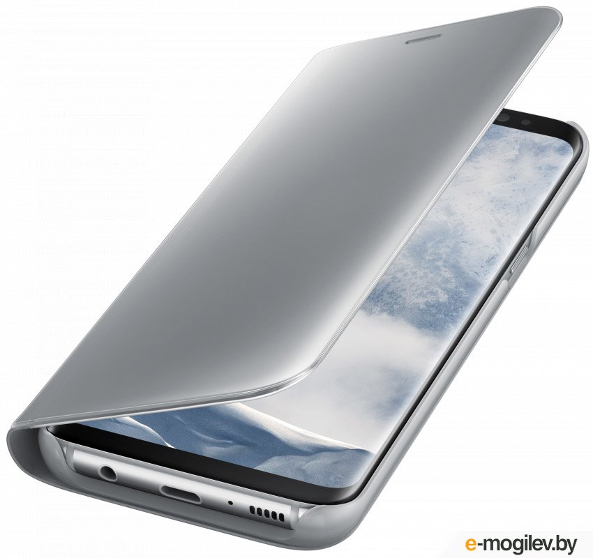 Чехол (флип-кейс) Samsung для Samsung Galaxy S8 Clear View Standing Cover серебристый (EF-ZG950CSEGRU)