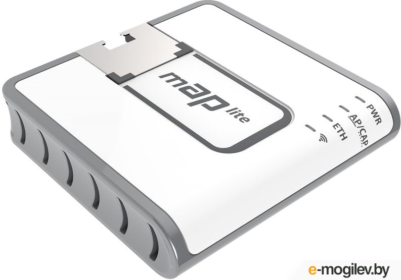 Точка доступа MikroTik RBmAPL-2nD mAP lite with 650Mhz CPU, 64MB RAM, 1xLAN, built-in Dual Chain 2.4Ghz 802.11bgn Dual Chain wireless with integrated