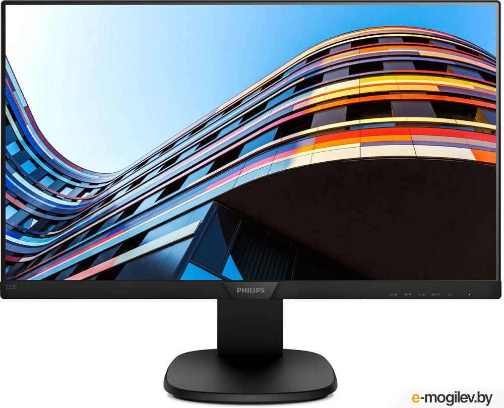 Philips 21.5 223S7EHMB (00/01) черный IPS LED 16:9 HDMI M/M матовая HAS Pivot 250cd 1920x1080 D-Sub FHD 4.51кг