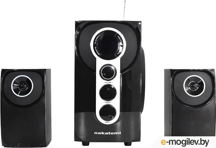 Nakatomi GS-32 (2x15W+Subwoofer 30W, SD, USB,  Bluetooth, ПДУ,  FM)