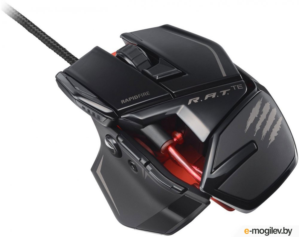 Мышь Mad Catz R.A.T. TE Gaming Mouse for PC and Mac Gloss Black USB MCB4370400C2/04/1